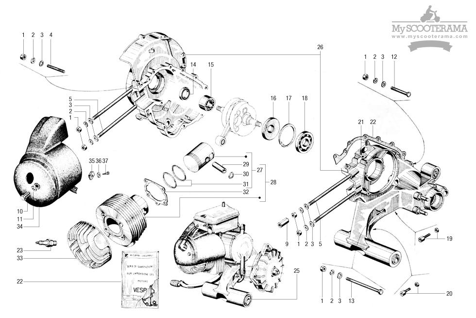 pieces vespa px 125